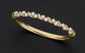 Estate Jewelry:Bracelets, Cultured Pearl and Gold Bracelet. ...