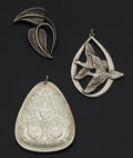 Estate Jewelry:Lots, Sterling Silver Lot. ... (Total: 3 Items)