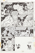Original Comic Art:Panel Pages, Joe Staton and Mark Farmer Green Lantern Corps #217 Original Art Group (DC, 1987).... (Total: 6 Original Art)