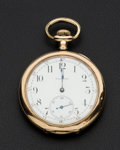 Timepieces:Pendant , Waltham 17 Jewel Open Face Pocket Watch. ...