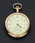 Timepieces:Pocket (post 1900), Hamilton 19 Jewel Open Face Pocket Watch. ...