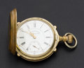 "Timepieces:Pocket (pre 1900) , Waltham Rare Model 92 ""Chronometro Supremo"" 21 Jewel 18 Size PocketWatch. ..."