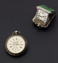 Timepieces:Pocket (pre 1900) , Levy-Wander Travel Clock & Swiss Silver Key Wind Pocket Watch.... (Total: 2 Items)