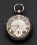 Timepieces:Pocket (pre 1900) , Downer, London Silver Verge Fusee Pocket Watch. ...