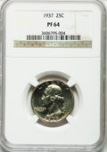 Proof Washington Quarters: , 1937 25C PR64 NGC. NGC Census: (196/639). PCGS Population(393/921). Mintage: 5,542. Numismedia Wsl. Price for problemfree...