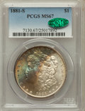Morgan Dollars, 1881-S $1 MS67 PCGS. CAC....