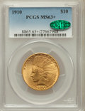 Indian Eagles, 1910 $10 MS63+ PCGS. CAC....