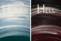 Prints, ED RUSCHA (American, b. 1937). Heaven and Hell (diptych), 1988. Soap-ground aquatints on Somerset cream paper. Each: 54-... (Total: 2 Items)