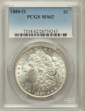 Morgan Dollars: , 1880-O $1 MS62 PCGS. PCGS Population (2474/3545). NGC Census:(1878/2944). Mintage: 5,305,000. Numismedia Wsl. Price for pr...