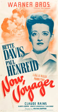 "Movie Posters:Romance, Now, Voyager (Warner Brothers, 1942). Three Sheet (41"" X 81"").. ..."