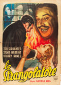 "Movie Posters:Crime, Crimes at the Dark House (C.I.A., 1947). Italian 2 - Foglio (39"" X55"") R. Mancinelli Art.. ..."