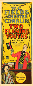 "Movie Posters:Comedy, Two Flaming Youths (Paramount, 1927). Insert (14"" X 36"").. ..."