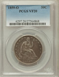 Seated Half Dollars: , 1859-O 50C VF20 PCGS. PCGS Population (6/256). NGC Census: (1/173).Mintage: 2,834,000. Numismedia Wsl. Price for problem f...