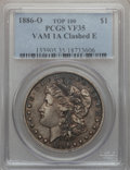 Morgan Dollars, 1886-O $1 Vam-1A, Clashed E VF35 PCGS. Top-100. PCGS Population (9/181). . From The Parcfeld Collection...