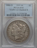 Morgan Dollars, 1886-O $1 Vam-1A, Clashed E Fine 15 PCGS. Top-100. PCGS Population (2/200). . From The Parcfeld Collect...