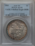 Morgan Dollars, 1901 $1 Vam-3, Shifted Eagle Doubled Die Reverse AU55 PCGS.Top-100. PCGS Population (10/3). NGC Census: (0/0).. FromThe...