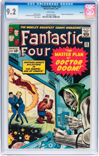 Fantastic Four #23 Curator pedigree (Marvel, 1964) CGC NM- 9.2 White pages