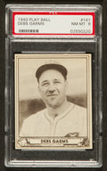 Baseball Cards:Singles (1940-1949), 1940 Play Ball Debs Garms #161 PSA NM-MT 8 - Pop Seven, NoneHigher! ...