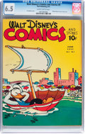 Golden Age (1938-1955):Cartoon Character, Walt Disney's Comics and Stories #9 (Dell, 1941) CGC FN+ 6.5 Slightly brittle pages....