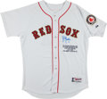 Baseball Collectibles:Uniforms, Bill Mueller Signed Boston Red Sox Jersey - 1st Player to Hit Grand Slams from Both Sides in Same Game!...