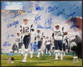 Football Collectibles:Photos, 2004 New England Patriots Team Signed Oversized Photograph....