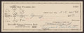 Football Collectibles:Others, 1960 Vince Lombardi Signed Check....