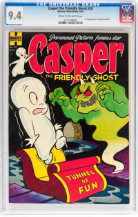 Casper the Friendly Ghost #20 (Harvey, 1954) CGC NM 9.4 Cream to off-white pages