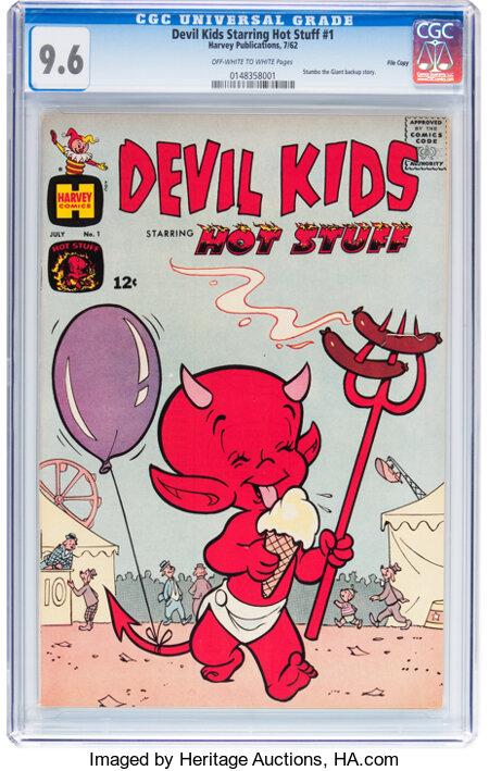 Devil Kids Starring Hot Stuff #1 File Copy (Harvey, 1962) CGC NM+ 9.6 Off-white to white pages....