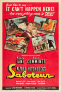 "Movie Posters:Hitchcock, Saboteur (Universal, 1942). One Sheet (27"" X 41"") Style D.. ..."