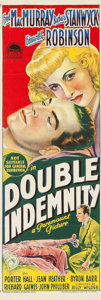 "Movie Posters:Film Noir, Double Indemnity (Paramount, 1944). Australian Daybill (10"" X30"").. ..."