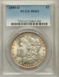Morgan Dollars: , 1890-O $1 MS62 PCGS. PCGS Population (1683/7823). NGC Census:(1152/6284). Mintage: 10,701,000. Numismedia Wsl. Price for p...