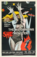 "Movie Posters:Science Fiction, The Astounding She Monster (American International, 1958). OneSheet (27"" X 41""). From the Collection of Wade Williams...."