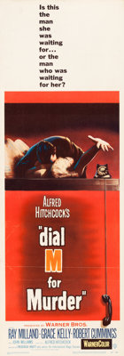 """Dial M for Murder (Warner Brothers, 1954). Insert (14"""" X 36"""")"""
