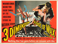 """House of Wax (Warner Brothers, 1953). British Quad (30"""" X 40"""") 3-D Style"""