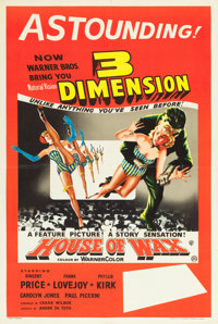 """House of Wax (Warner Brothers, 1953). British Double Crown (20"""" X 30"""") 3-D Style"""