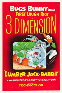 "Lumber Jack-Rabbit (Warner Brothers, 1954). One Sheet (27"" X 41"") 3-D Style"
