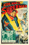 "Movie Posters:Serial, Atom Man vs. Superman (Columbia, 1950). One Sheet (27"" X 41"")Chapter 2 -- ""Atom Man Appears!"". ..."