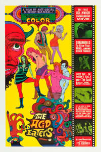"The Acid Eaters (FPS Ventures, 1968). One Sheet (28"" X 41.75"")"
