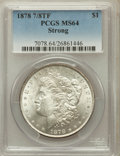 Morgan Dollars, 1878 7/8TF $1 Strong MS64 PCGS. PCGS Population (1464/244). NGCCensus: (1017/97). Mintage: 544,000. Numismedia Wsl. Price ...