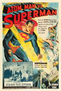 "Movie Posters:Serial, Atom Man vs. Superman (Columbia, 1950). One Sheet (27"" X 41"")Chapter 5 -- ""Atom Man Tricks Superman."". ..."