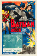 "Movie Posters:Serial, The New Adventures of Batman and Robin (Columbia, 1949). One Sheet(27"" X 41"") Chapter 13 -- ""The Wizard's Challenge."". ..."
