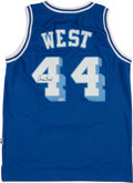 Basketball Collectibles:Uniforms, Jerry West Signed Los Angeles Lakers Jersey....