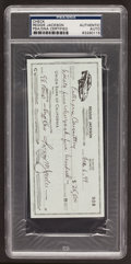Baseball Collectibles:Others, 1999 Reggie Jackson Signed Check. ...