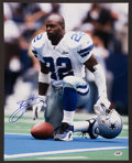 Football Collectibles:Photos, Emmitt Smith Signed Oversized Photograph....