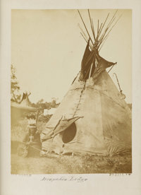 "ARAPAHOE ""CHIEF BIG MOUTH"" BATTLE OF WASHITA AGAINST CUSTER 1880s. Arapahoe ""Chief Big Mouth"" with B..."