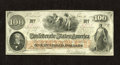 Confederate Notes:1862 Issues, T41 $100 1862. A corner fold is found on this Scroll 2 variety.Choice About Uncirculated....