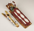 American Indian Art:Beadwork, A UMATILLA BEADED MODEL CRADLEBOARD AND A KIOWA BEADED MODELCRADLEBOARD. . c. 1885 - 1890. ... (Total: 2 Items)