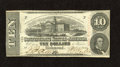 Confederate Notes:1863 Issues, T59 $10 1863. A fold is found just below the top edge of this $10that has a pencilled Criswell number on the back. Choice...