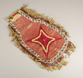 American Indian Art:Beadwork, A SIOUX QUILLED AND BEADED HIDE POUCH. . c. 1890. ...