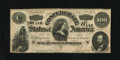 Confederate Notes:1864 Issues, T65 $100 1864. A tiny edge nick is noticed. Crisp Uncirculated....
